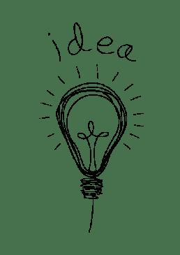 Lightbulb idea drawing