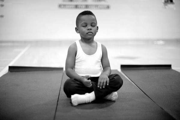 child-meditates