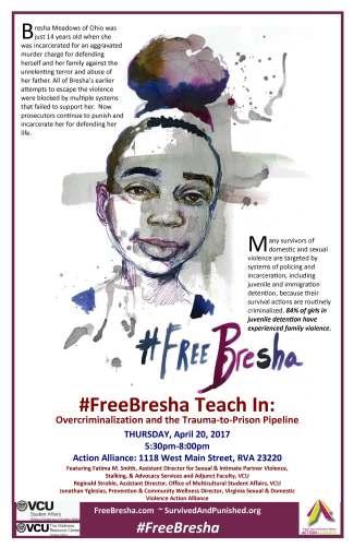 Free Bresha Teach-in poster