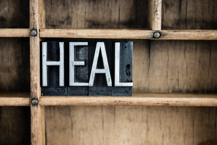 Heal Concept Metal Letterpress Word in Drawer